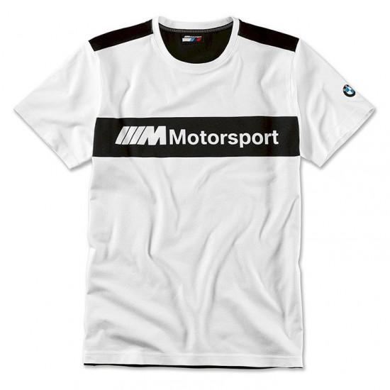 Чоловіча футболка BMW Motorsport T-Shirt, Colour Block Design Men, White / Black, 80142461101