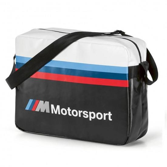 Сумка-мессенжер BMW M Motorsport Messenger Bag, Black / White, 80222461144