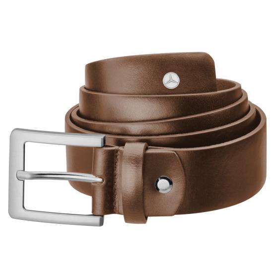 Чоловік шкіряний ремінь Mercedes-Benz Men's Belt, Business, коричневий, теляча шкіра, B66954117